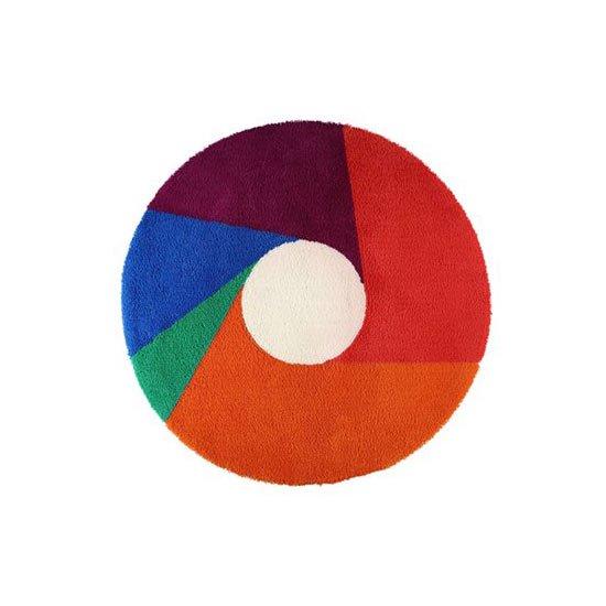 マックス・ビル ラグ カラーホイール color wheel 円形 100cm 正規品 / ラグマット