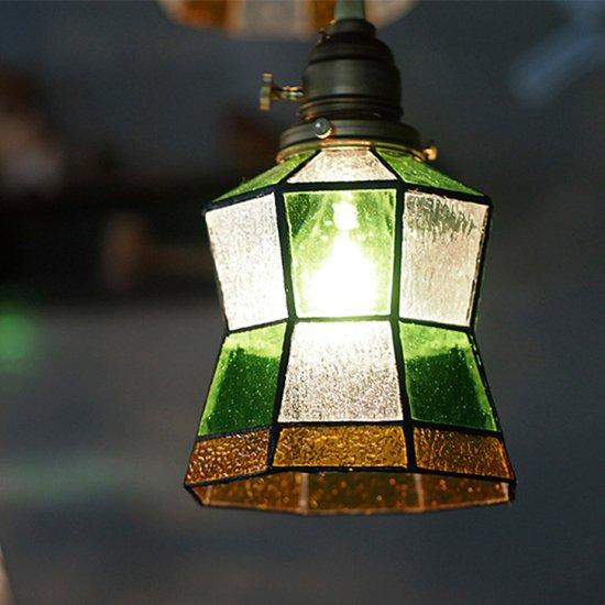 AW-0372 Stained glass pendant Helm ステンドグラスペンダント ヘルム ペンダントライト ステンドガラス 1灯用