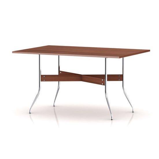 ネルソン スワッグレッグ ダイニングテーブル 長方型 NS5851 ウォールナット ジョージネルソン ハーマンミラー