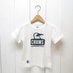 チャムス/CHUMS/Kid's Booby Face T-Shirt/White