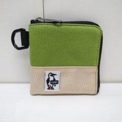 チャムス/CHUMS/Square Coin Case Sweat Nylon/Green Ecru