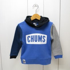 チャムス/CHUMS/Kid's CHUMS Logo Pull Over Parka/Crazy Blue