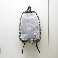 チャムス/CHUMS/Kids's Mesh Day Pack/17F Foot Camo