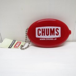 チャムス/CHUMS/CHUMS Logo Quikoin with Ball Chain/Red