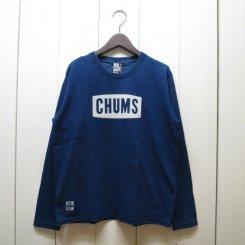 チャムス/CHUMS/CHUMS Logo L/S T-Shirt Indigo/Indigo