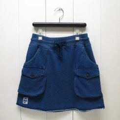 チャムス/CHUMS/Sweat Bush Skirt Indigo/Indigo
