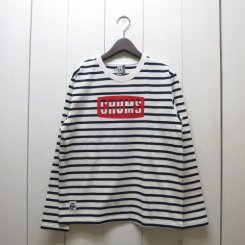 チャムス/CHUMS/CHUMS Logo L/S T-Shirt/White-Navy