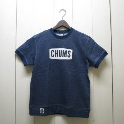 チャムス/CHUMS/ S/S Logo Crew Top/H・Navy