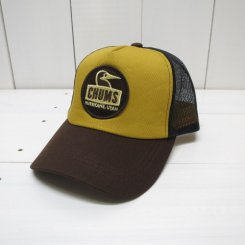 チャムス/CHUMS/Kid's Booby Face Mesh Cap/Green Mustard