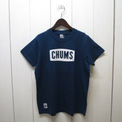 チャムス/CHUMS/CHUMS Logo T-shirt/Navy