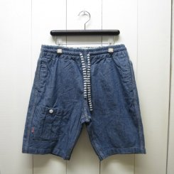チャムス/CHUMS/Cotton Linen Indigo Shorts/Lt.Indigo