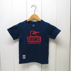 チャムス/CHUMS/Kid's Booby Face T-Shirt/Navy
