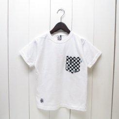 チャムス/CHUMS/東北別注/米織小紋Pocket T-shirt 市松/White