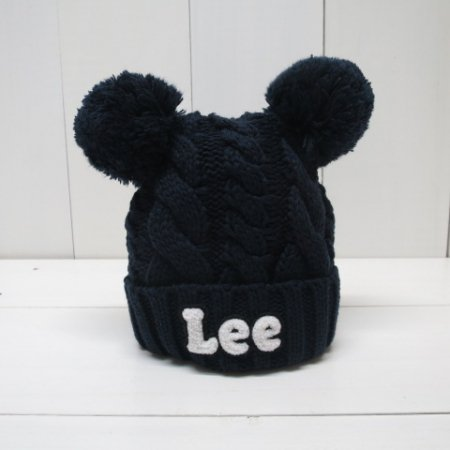 Lee ×stompstamp/耳付きケーブルニット...