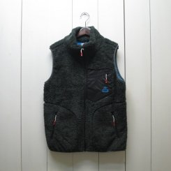 チャムス/CHUMS/Bonding Fleece Vest/H・Charcoal-Sax