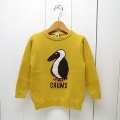 チャムス/CHUMS/Kid's Cyclone Knit Crew Top/Yellow