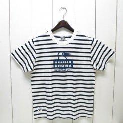 チャムス/CHUMS/Booby Face T-Shirt/Navy Border