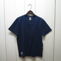 チャムス/CHUMS/Solid V Neck T-shirt/Navy