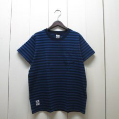チャムス/CHUMS/Utah Pocket T-Shirt Indigo/Indigo Border