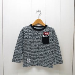 チャムス/CHUMS/Kid's  Booby Pocket L/S T-Shirt/Letter