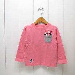 チャムス/CHUMS/Kid's  Booby Pocket L/S T-Shirt/Pink