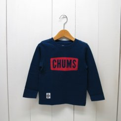 チャムス/CHUMS/Kid's  Boat Logo L/S T-Shirt/Navy