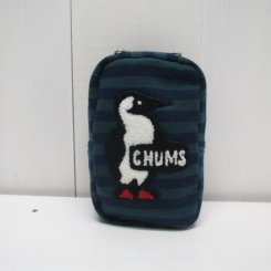 チャムス/CHUMS/Vertical Pouch Sweat/Navy×Green