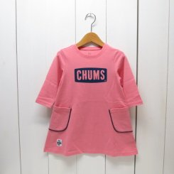 チャムス/CHUMS/Kid's CHUMS Logo Pocket Dress/Pink