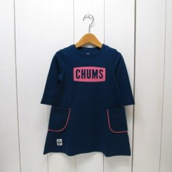 チャムス/CHUMS/Kid's CHUMS Logo Pocket Dress/Navy