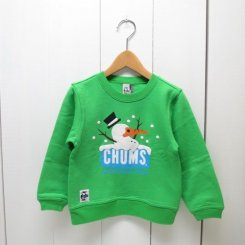 チャムス/CHUMS/Kid's  Snow Booby Crew Top/Bright Green