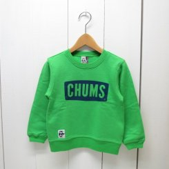 チャムス/CHUMS/Kid's  Boat Logo Crew Top/Bright Green