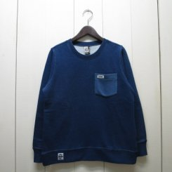 チャムス/CHUMS/Pocket Crew Top Indigo/Indigo