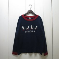 チャムス/CHUMS/Cyclone Knit Crew Top/Navy