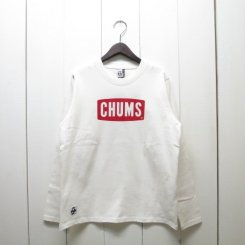 チャムス/CHUMS/CHUMS Logo L/S T-Shirt/White