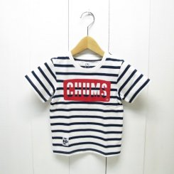 チャムス/CHUMS/Kid's CHUMS Logo T-Shirt/White-Navy