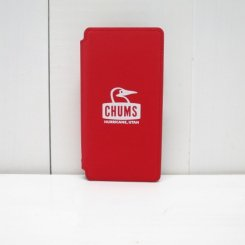 チャムス/CHUMS/Tarpaulin Diary Case For iPhone X・XS/Red