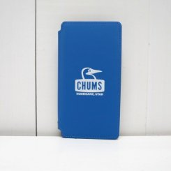 チャムス/CHUMS/Tarpaulin Diary Case For iPhone X・XS/Blue