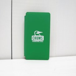 チャムス/CHUMS/Tarpaulin Diary Case For iPhone X・XS/Green