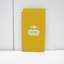チャムス/CHUMS/Tarpaulin Diary Case For iPhone X・XS/Yellow