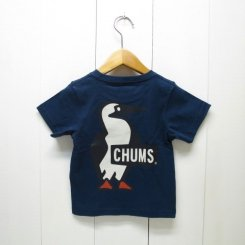 チャムス/CHUMS/Kid's Booby Logo T-Shirt/Navy