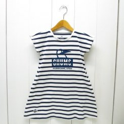 チャムス/CHUMS/Kid's Booby Face Dress/White-Navy