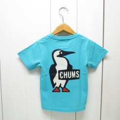 チャムス/CHUMS/Kid's Booby Logo T-Shirt/Marine Teal