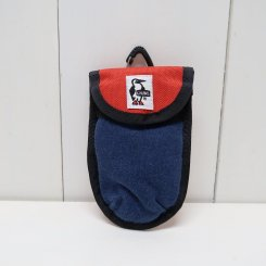 チャムス/CHUMS/Anti Relay Attack Key Case Sweat Nylon/H・Navy×Tomato