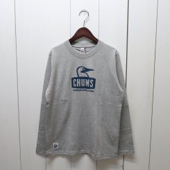 チャムス/CHUMS/Booby Face L/S T-Shirt/H・Gray × Navy