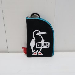 チャムス/CHUMS/Pass Card Case Sweat/Black