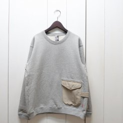 チャムス/CHUMS/ Utility Pocket Crew Top Sweat/ H・Gray
