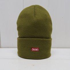 チャムス/CHUMS/Knit Cap CHUMS Logo/Khaki