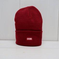 チャムス/CHUMS/Knit Cap CHUMS Logo/Burgundy
