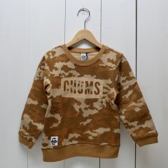 チャムス/CHUMS/Kid's Boat Logo Crew Top/Digital Camo