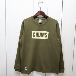 チャムス/CHUMS/CHUMS Logo L/S T-Shirt/Khaki